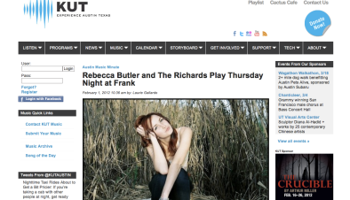 Rebecca Butler and The Richards KUT